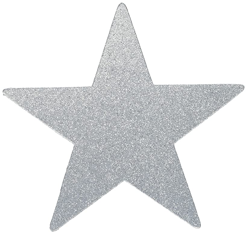 amscan Star Cutouts | Silver | Party Decor | 40 Ct.