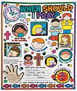 Color Your Own When Should I Pray Poster (30 Posters) Religious Crafts for Kids