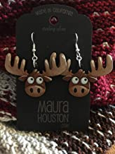 Moose Earrings (LARGE) that are laser cut and hand painted to give the illusion of 3D // gifts for her