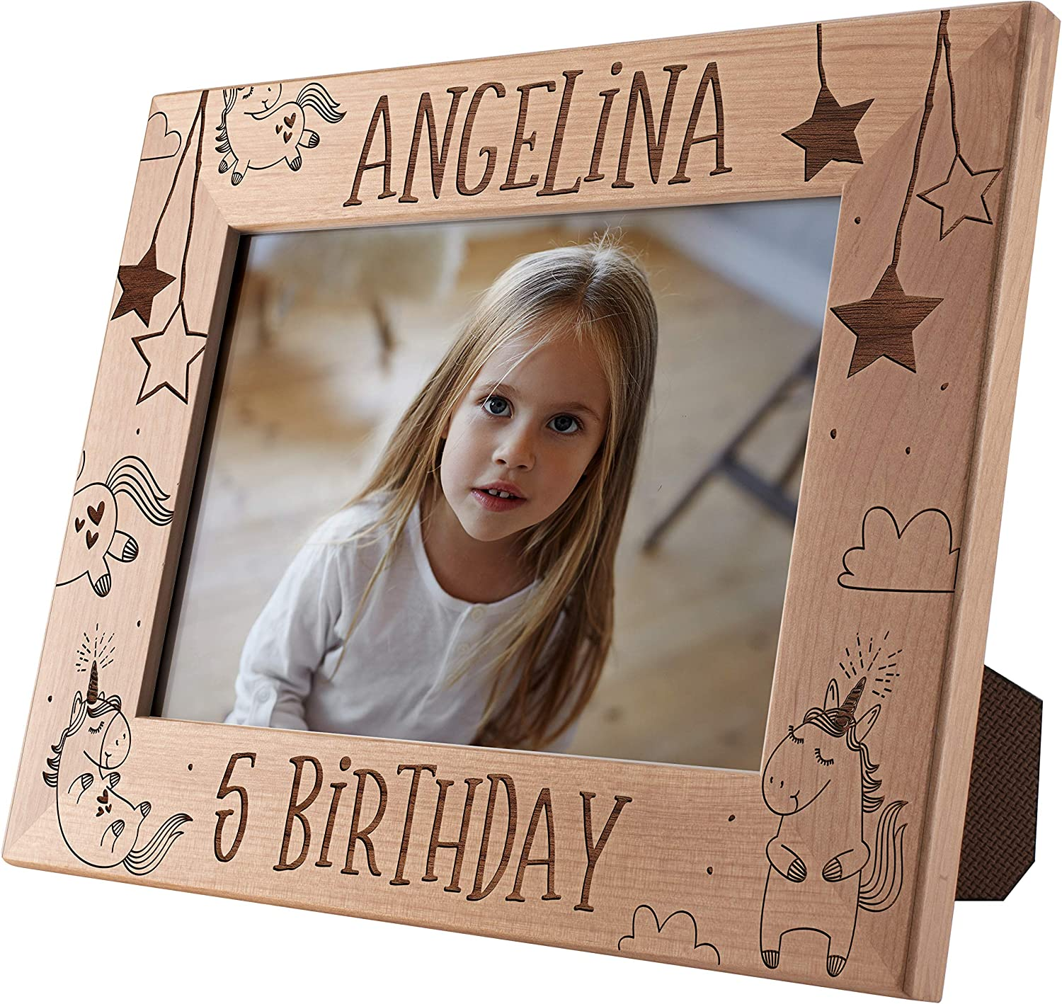 Birthday Picture 贈呈 Frame Personalized Engraved Custom Birt 5x7 配送員設置送料無料