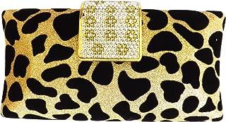 Peach Couture Womens Fashion Handbag Leopard Print Cocktail Clutch Drop-In Chain