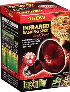 ジェックス エキゾテラ ヒートグロー 赤外線照射スポットランプ 150W 赤い光 トカゲ類等