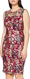 Gina Bacconi Women's Leaf Embroidered Dress Vestido de cctel para Mujer