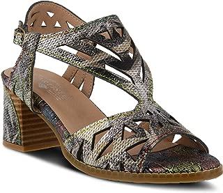 L'ARTISTE Women's Calpie Leather Ankle Strap Sandal