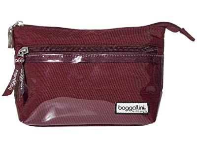 Baggallini Cosmetic Pouch (Eggplant) Handbags
