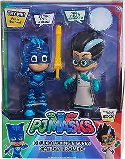 PJ Masks PJMASKS 95346 Talking Figure Set-Catboy Vs Romeo, Multi-Color