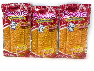 Bento Squid Seafood Snack Sweet & Spicy 0.7oz (3 Pack)