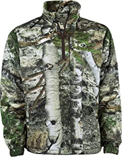 Performance Quarter Zip Camo Pullover for Hunting and Casual Wear Available in Multiple Patterns