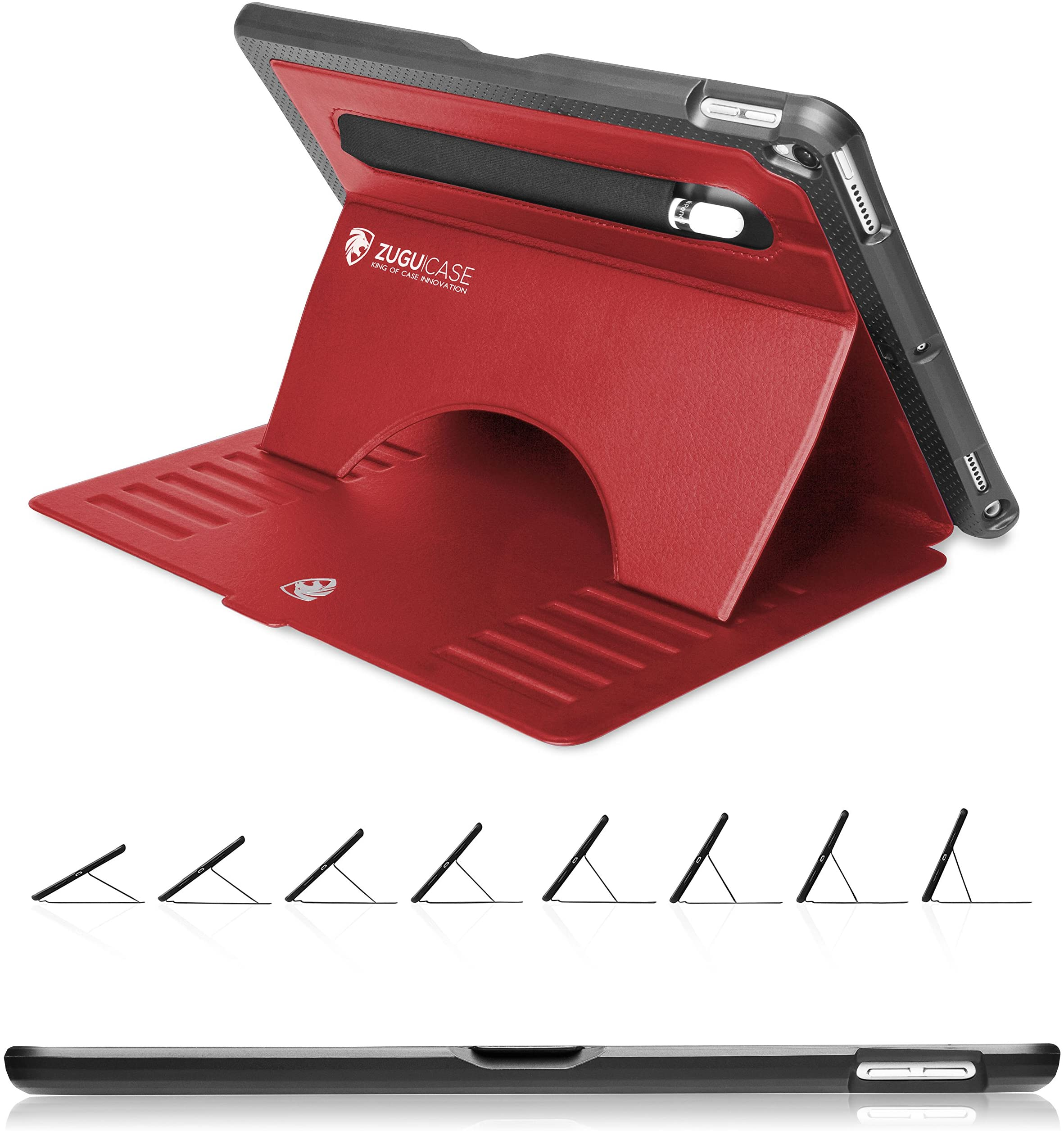 ZUGU CASE - 2019 iPad Air 3 10.5/2017 iPad Pro 10.5 inch Case Prodigy X - Very Protective But Thin + Convenient Magnetic Stand + Sleep/Wake Cover (Red)