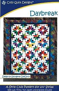 "Daybreak Quilt Pattern, Jelly Roll 2.5"" Strip Friendly, Cozy Quilt Designs, 6 Size Options Day Break"