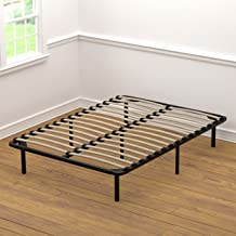 Handy Living Platform Bed Frame - Wooden Slat Mattress Foundation/Box Spring Replacement, Full