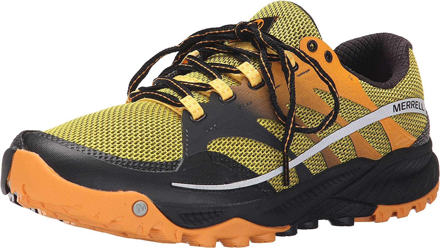 Merrell Men's All Out Charge Trail Running shoes, Yellow, 7 M US