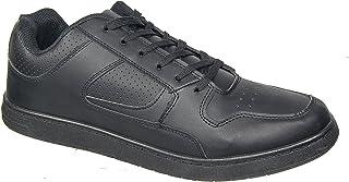 DEK Herren Sneakers Sport schwarz Laced Casual bequem, Größen 6 bis 12