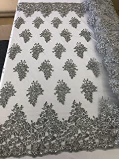 2 Way Stretch Mesh Lace FlowerFloral Handmade Mesh Lace Fabric By The Yard Embroidery LaceBridal LaceTableclothsNight GownsTaupe