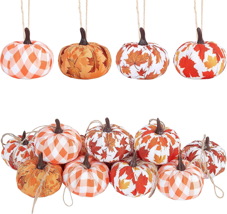 quality assurance Wehhbtye 12PCS Quantity limited Fall Thanksgiving Pumpkin Hanging Ornaments-Maple