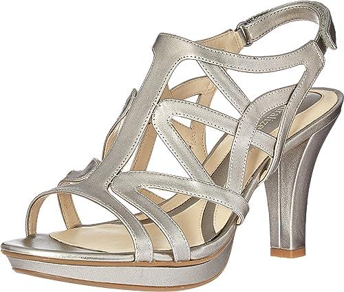 Naturalizer Wohombres Danya Platform Dress Sandal, Pewter, 5 M US