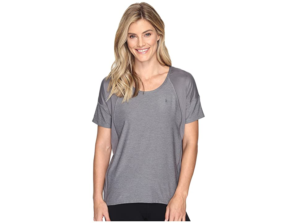 Under Armour Armour Sport Short Sleeve Twist (Graphite/Graphite) Women