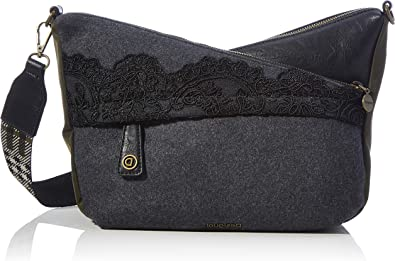 Desigual Accessories Fabric Across Body Bag, Bolsa para Cuerpo Mujer, negro, U