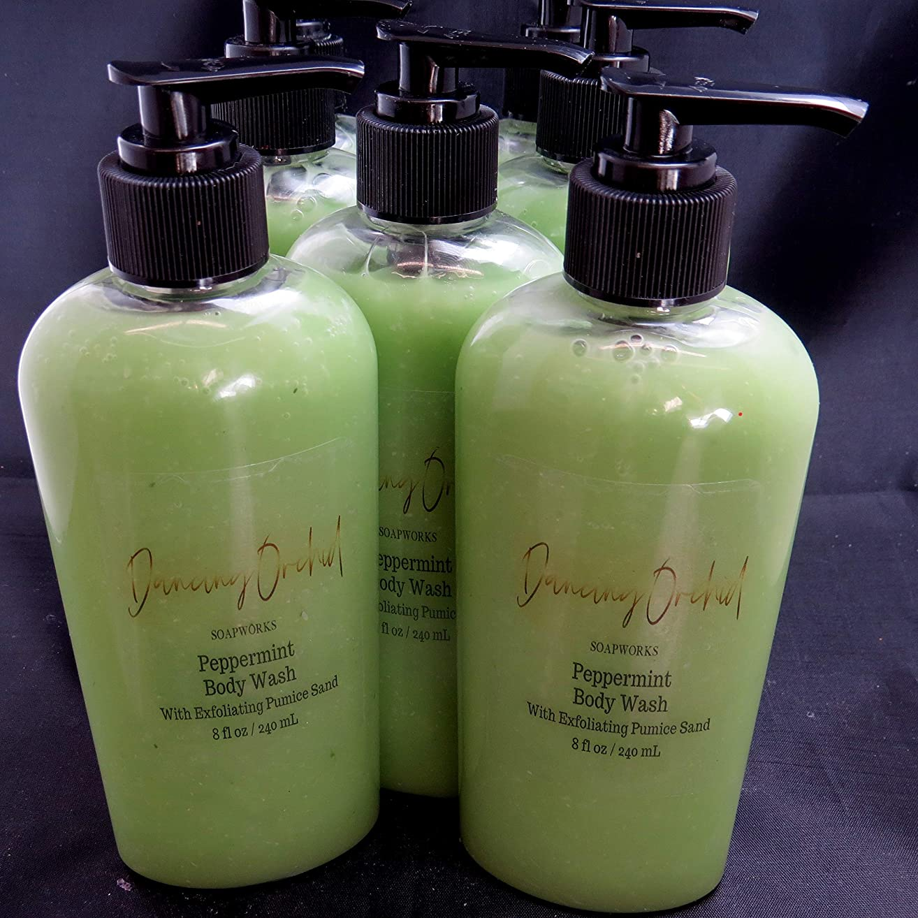 Peppermint And French Green Clay Exfoliating Body Wash l Free Gift l Gentle Cleansing l Refreshing l Pumice Sand l