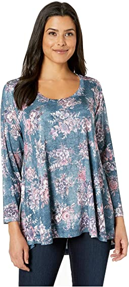 Denim Floral Print Tunic
