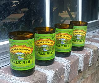 Set of 4 Sierra Nevada Pale Ale upcycled glasses
