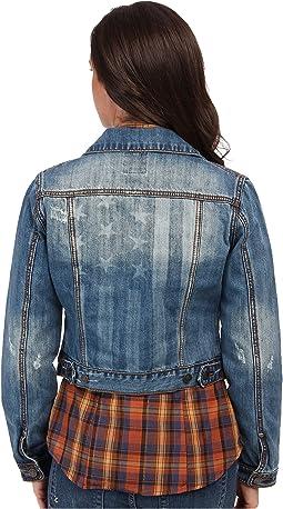 Vintage Patriotic Jean Jacket