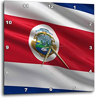 3dRose Flag of Costa Rica Waving In The Wind - Wall Clock, 15 by 15-Inch (dpp_178745_3)