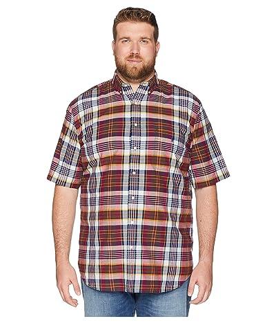 Polo Ralph Lauren Big & Tall Big Tall Madras Plaid Short Sleeve Sport Shirt (Merlot/Cream Multi) Men