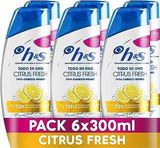 Sh! H&S Citrus Fresh Todo En Uno Champú Anticaspa y Acondicionador Para Pelo Graso 6x 300ml