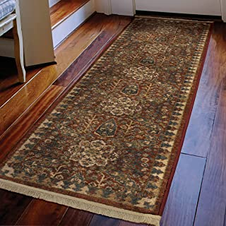 Orian Rugs Voyage Bombay Tribal Runner Rug with Fringe, 1'11