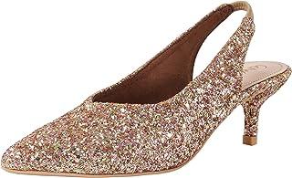 Catwalk Women's Glitter Sling Back Pumps