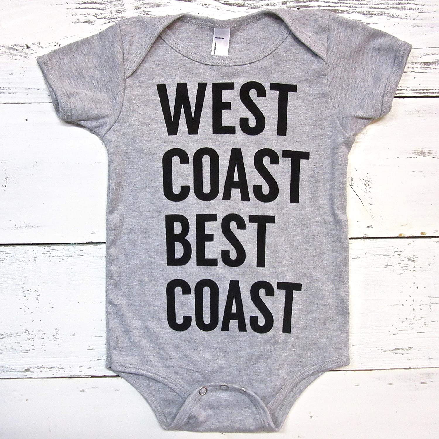 West coast best baby onesie.WCBC body Free Shipping Cheap Bargain Gift unisex suit. Rapid rise In