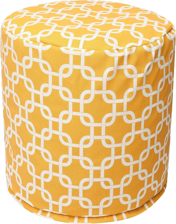 Majestic Home Goods Yellow Links Bean Indoor Luxury goods Bag Ottoman Max 82% OFF Outdoor