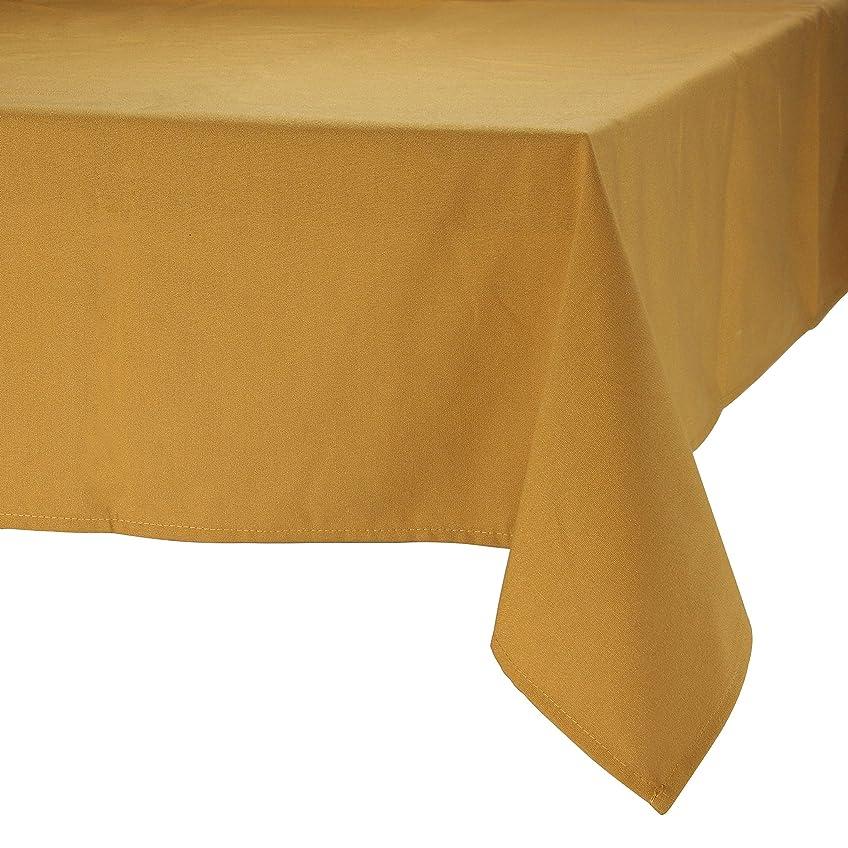 旅通知リップMAJEST(マジェスト) テーブルクロス 長方形190cmx300cm 布地 ブロンズ 無地 繋なし 吸水タイプ