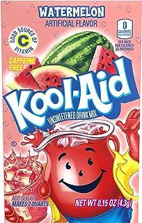 Kool Aid Watermelon Drink Mix, Makes 2 Quarts (0.15 oz Packets, Pack of 48)