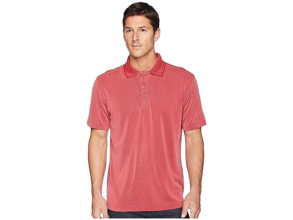 BUGATCHI Short Sleeve Polynosic Polo (Ruby) Men