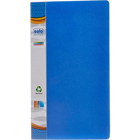 Solo BC- 805 Business Cards Holder (in a case) 240 Cards - Blue