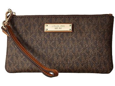 MICHAEL Michael Kors Wristlets Medium Wristlet (Brown) Handbags