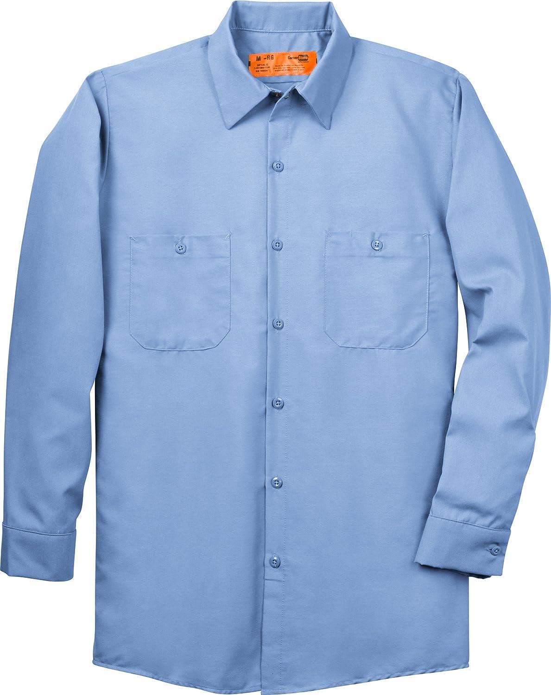 CornerStone - Long Sleeve Industrial Work Shirt. SP14 - L Regular - Light Blue