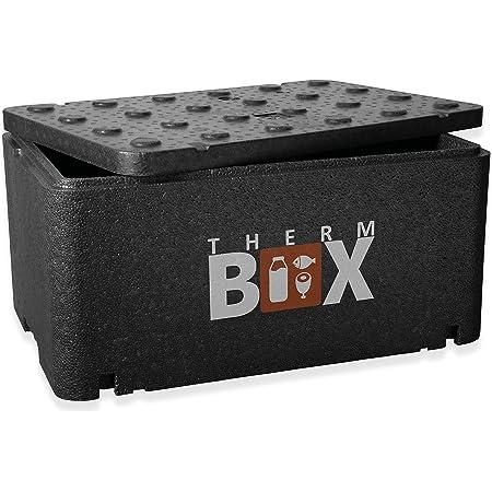 THERM BOX thermo container large GN 1/1 boîte isolée de 46 litres thermo box keep warm box cool box boîte en polystyrène à l'intérieur : 54x34,5x24cm réutilisable
