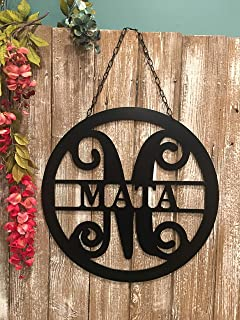 Split Letter Last Name Sign For Home Apartment Townhouse Realtor Closing Gift QUICK SHIPPING -18 in