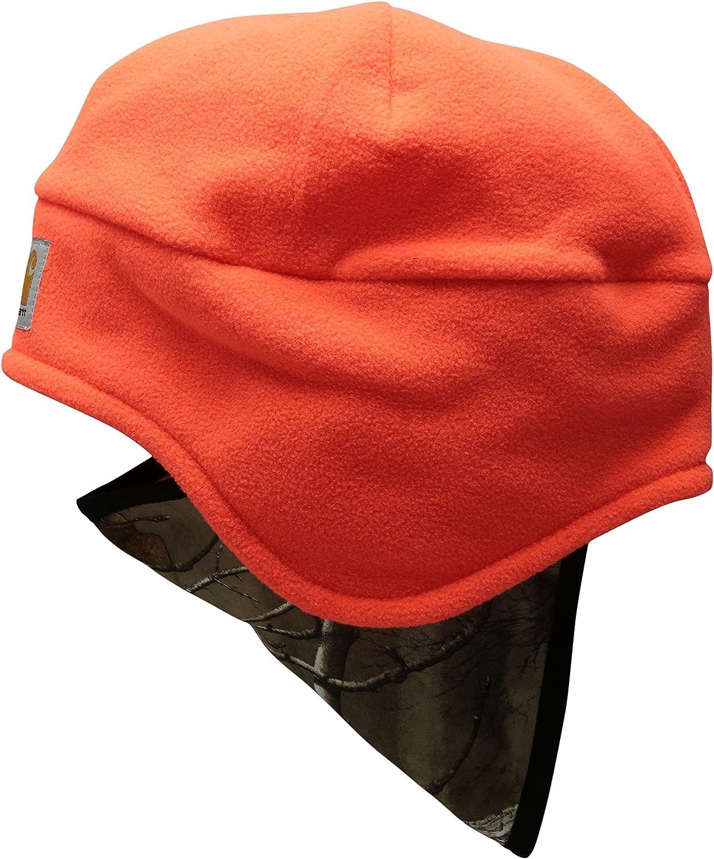 Carhartt Men's Fleece 2 in 1 Hat, Brite Orange, OFA