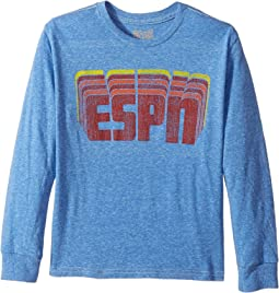 The Original Retro Brand Kids - ESPN Long Sleeve Tri-Blend Tee (Big Kids)