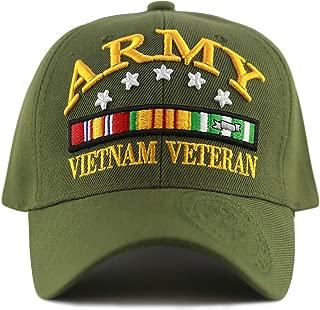 1100 Official Licensed 3D Vietnam Veteran Ribbon Logo Cap