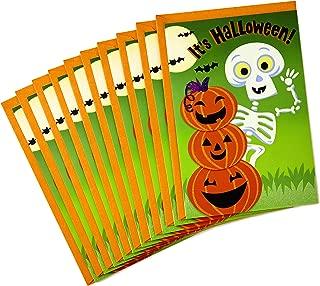 Hallmark Halloween Cards, Skeleton (10 cards with Envelopes)