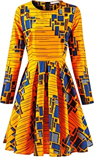 Best blue and yellow african print dress Reviews