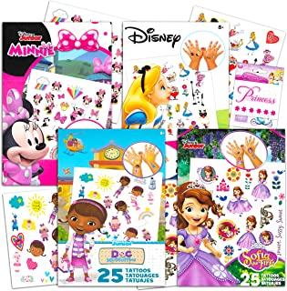 Disney Junior Tattoos Party Favor Set for Girls -- 100 Temporary Tattoos Featuring Minnie Mouse, Sofia The First, Doc McSt...