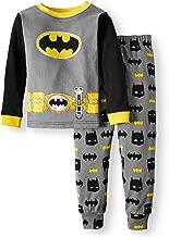 AME DC Comics Batman Toddler Boy Cotton Tight Fit Pajamas, Black, 3T