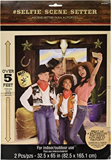 Amscan Party Supplies YeeHaw Western Selfie Scene Setter