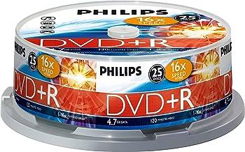 Philips DR 4 S 6 B 25 F/00 DVD+R  -  Blanco - DVD+R vírgenes (4.7 GB, 25 unidades, 16x)